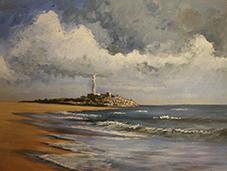 Coastal Scene in Acrylic
